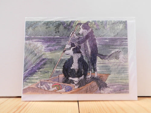 'Messing About on the River' Greeting Card - Bluebells of Bath