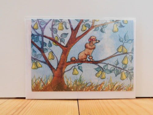 Cards bluebells of bath and a poo oodle in a pear tree greeting card m4hsunfo