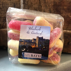 Rhubarb and Custard Sweets bluebells of bath