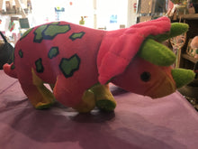 Neon Dinosaur Soft Toy - Bluebells of Bath