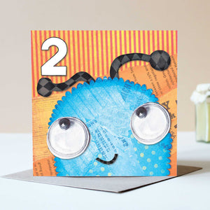 Age 2 Friendly Monster Card - Bluebells of Bath