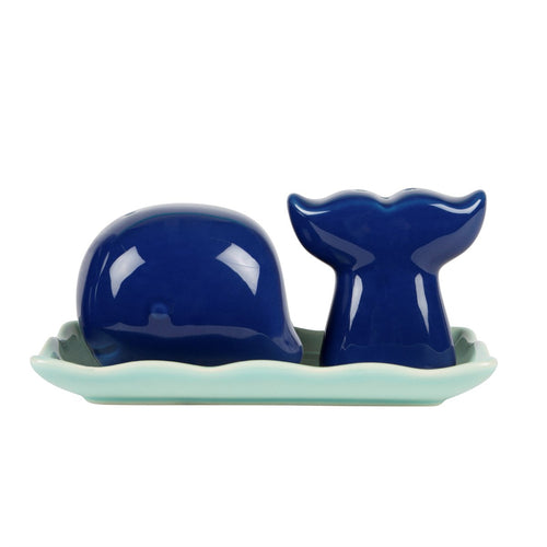 Whale Salt and Pepper Set - Bluebells of Bath