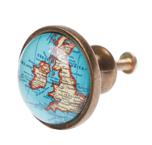 Vintage Map Drawer Knob - Bluebells of Bath