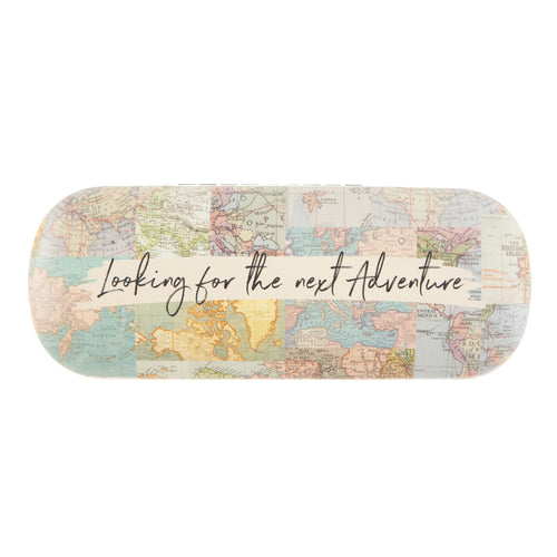 Vintage Map Collage Glasses Case - Bluebells of Bath