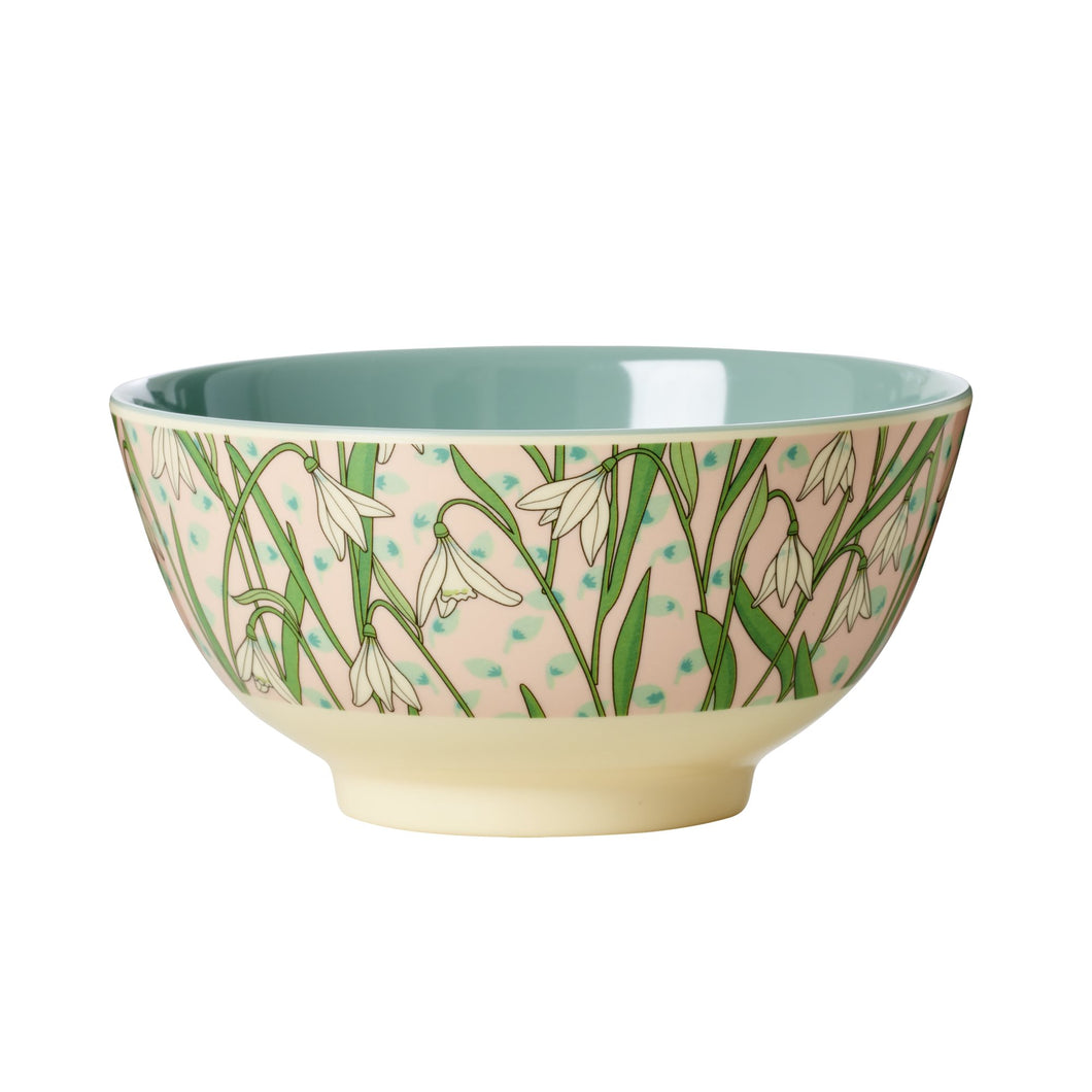 Snowdrop Print Melamine Bowl - Bluebells of Bath