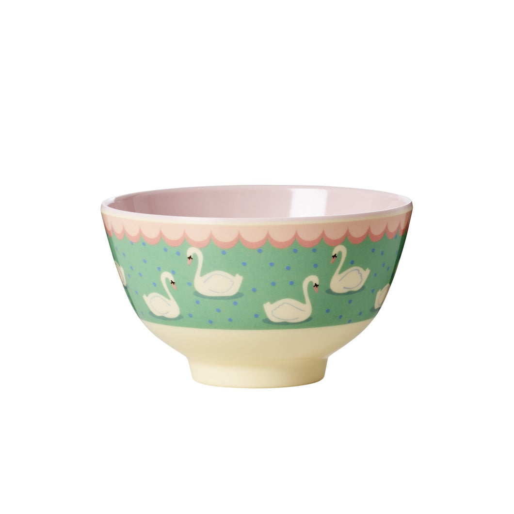 Swan Print Small Melamine Bowl - Bluebells of Bath