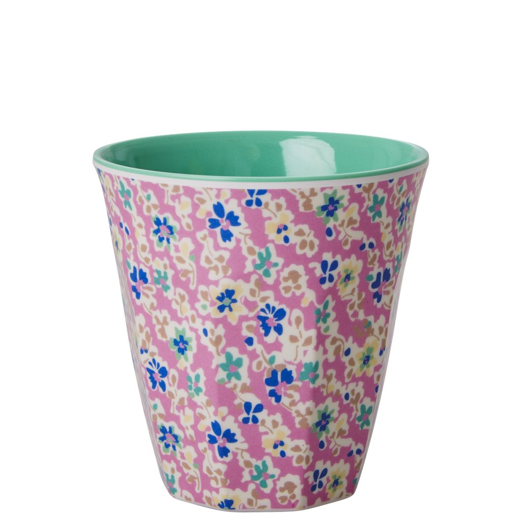 Pink Flower Print Melamine Cup - Bluebells of Bath