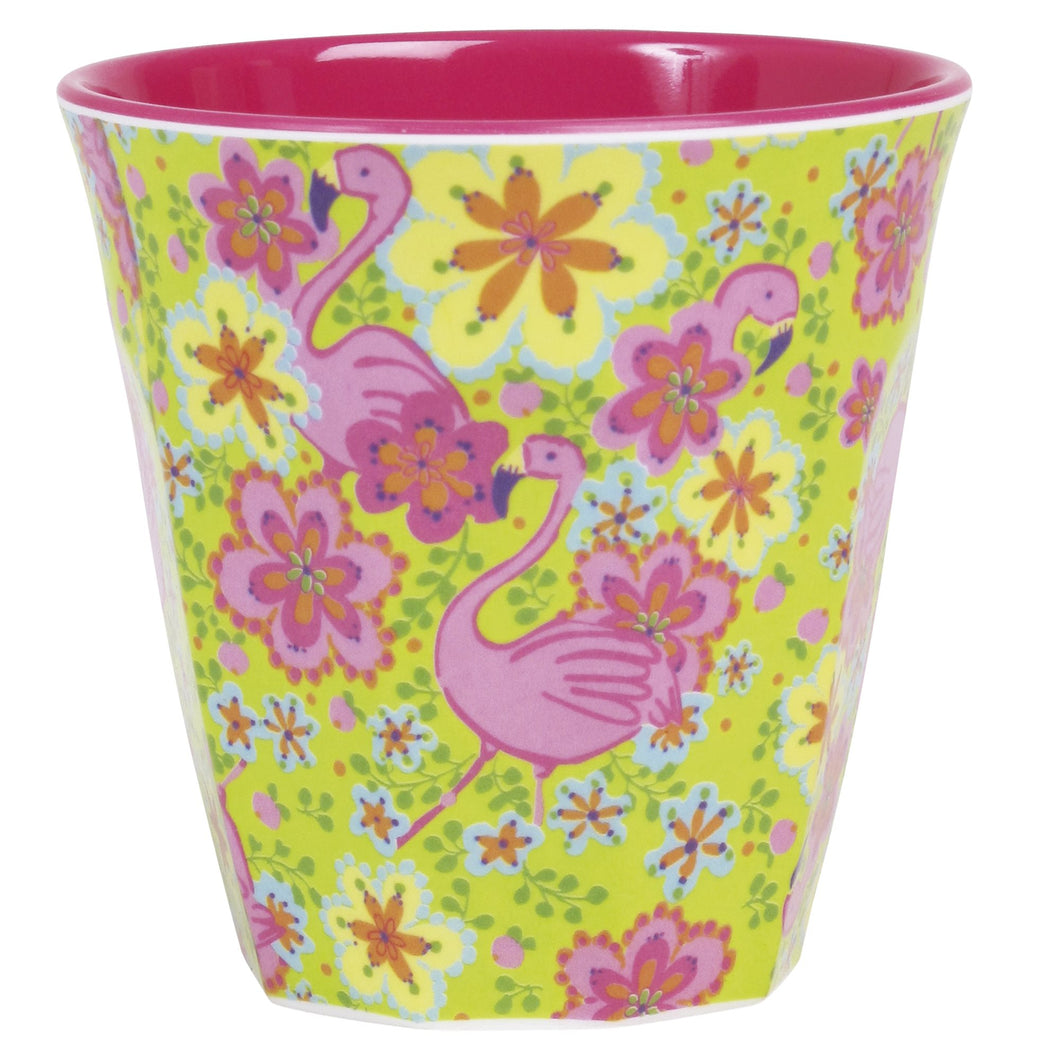 Flamingo Print Melamine Cup - Bluebells of Bath