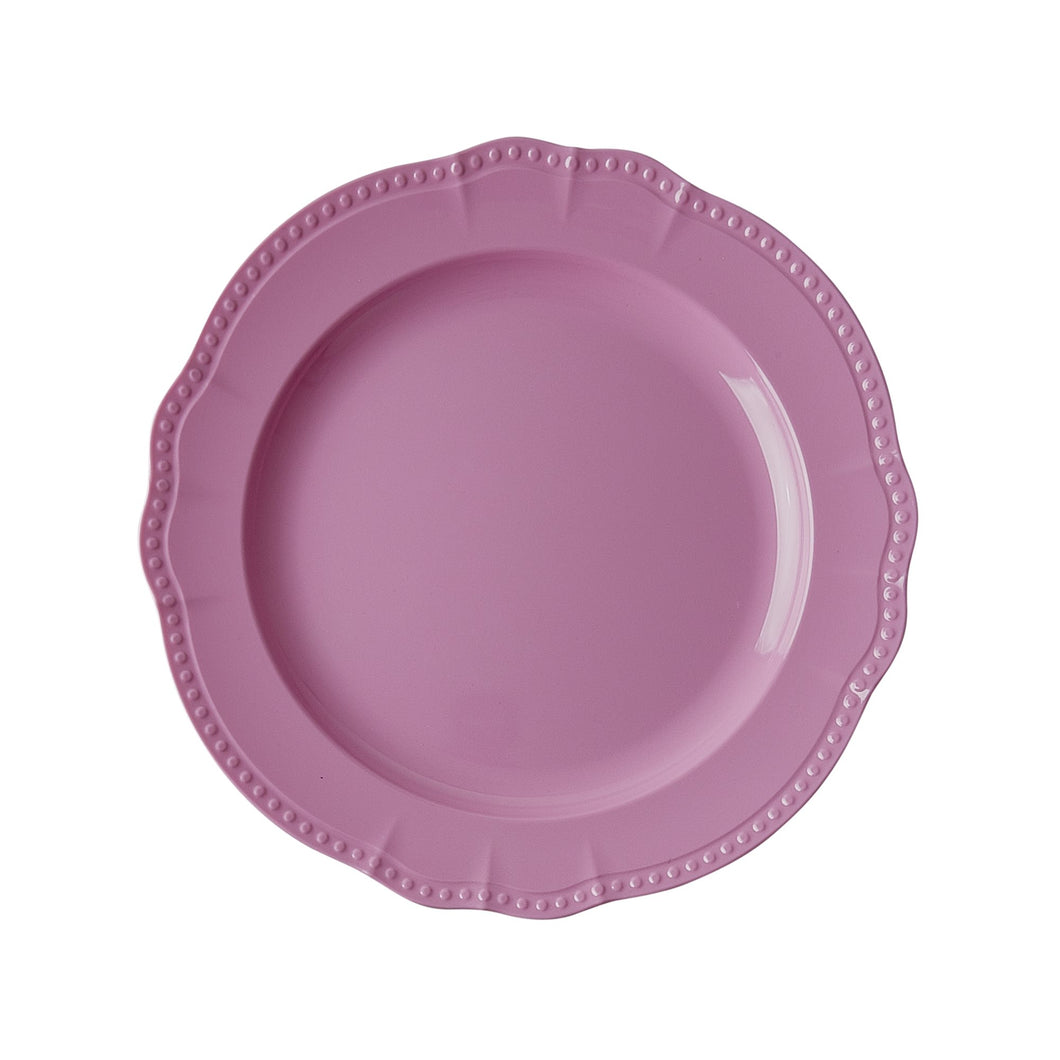 Dark Pink Melamine Dinner Plate - Bluebells of Bath