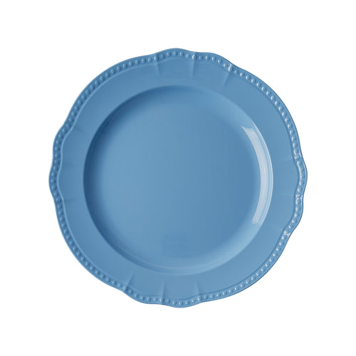 Sky Blue Melamine Dinner Plate - Bluebells of Bath