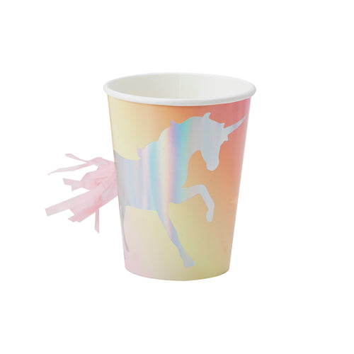 Iridescent Foiled Unicorn Tassel Paper Cups - Bluebells of Bath