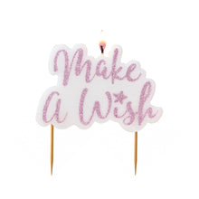 Pink Glitter Make a Wish Candle - Bluebells of Bath