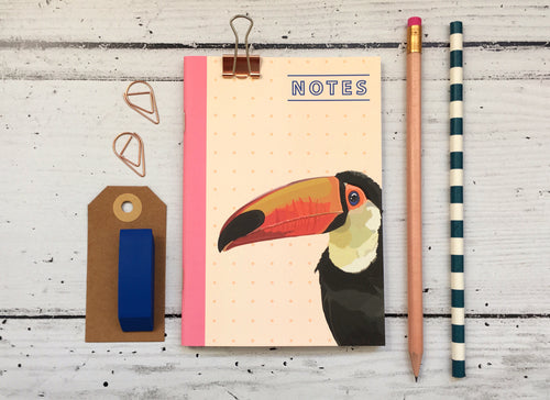 Toucan Pocket Notebook - Bluebells of Bath