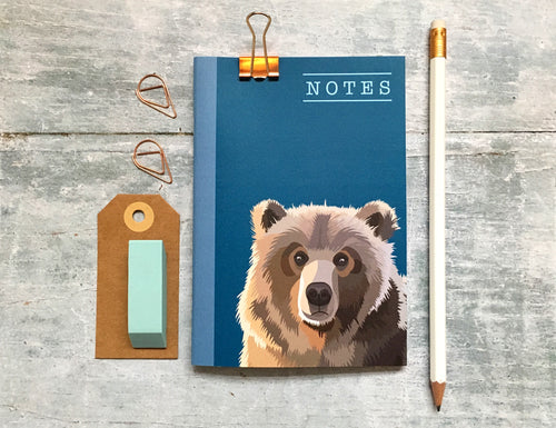 Bear Pocket Notebook - Bluebells of Bath