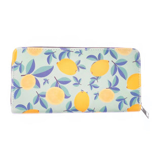 Summer Lemon Print Purse bluebells of bath