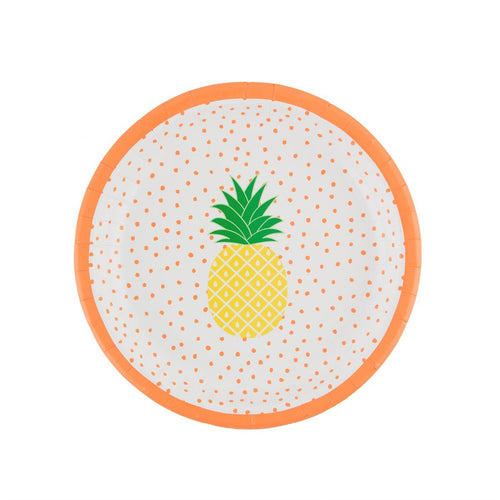 Pineapple Paper Plates - Bluebells of Bath