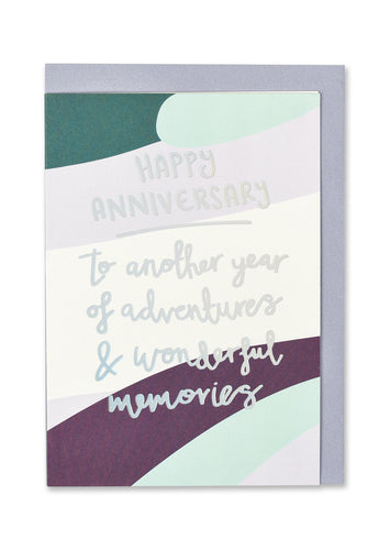 Adventures and Memories Anniversary Card - Bluebells of Bath
