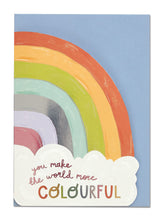 Colourful Rainbow Greeting Card - Bluebells of Bath