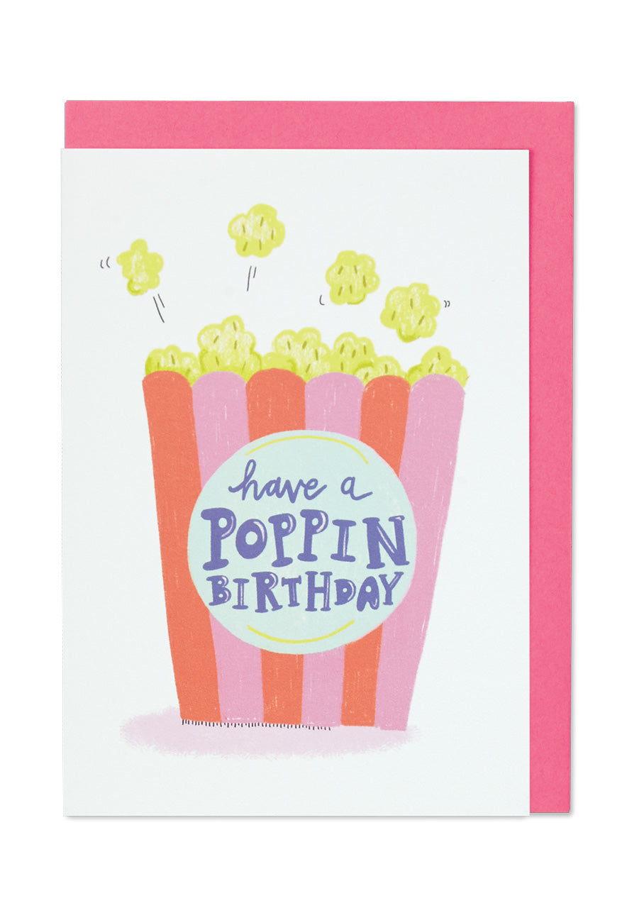 Poppin Birthday Card - Bluebells of Bath