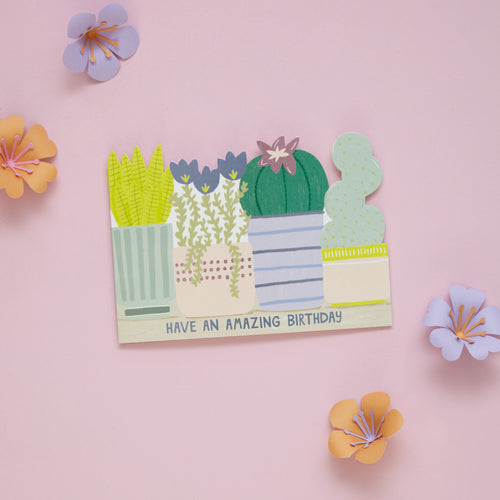 Cacti Amazing Birthday Card - Bluebells of Bath