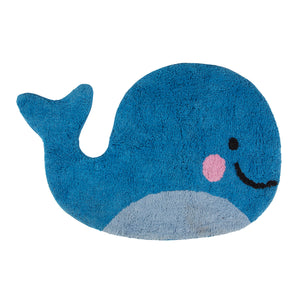 Happy Whale Rug - Bluebells of Bath