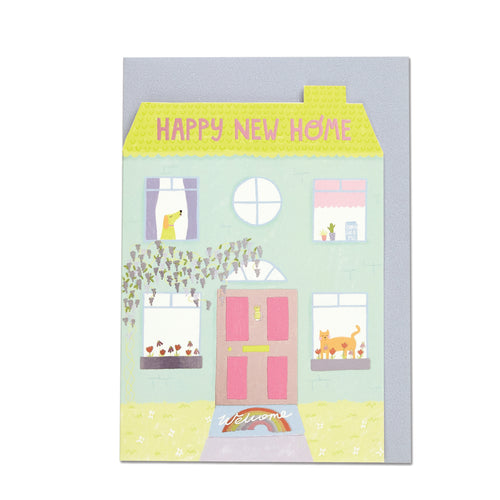 Happy New Home Card - Bluebells of Bath