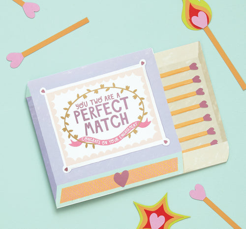 Perfect Match Engagement Card - Bluebells of Bath