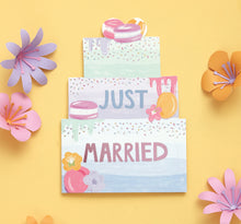 Just Married Card - Bluebells of Bath