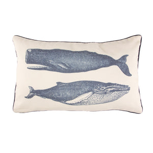 Vintage Whales Cushion - Bluebells of Bath