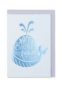 Whale of a Time Birthday Card - Bluebells of Bath
