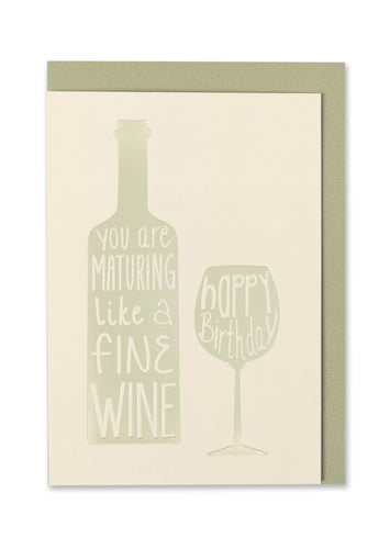 Fine Wine Birthday Card - Bluebells of Bath