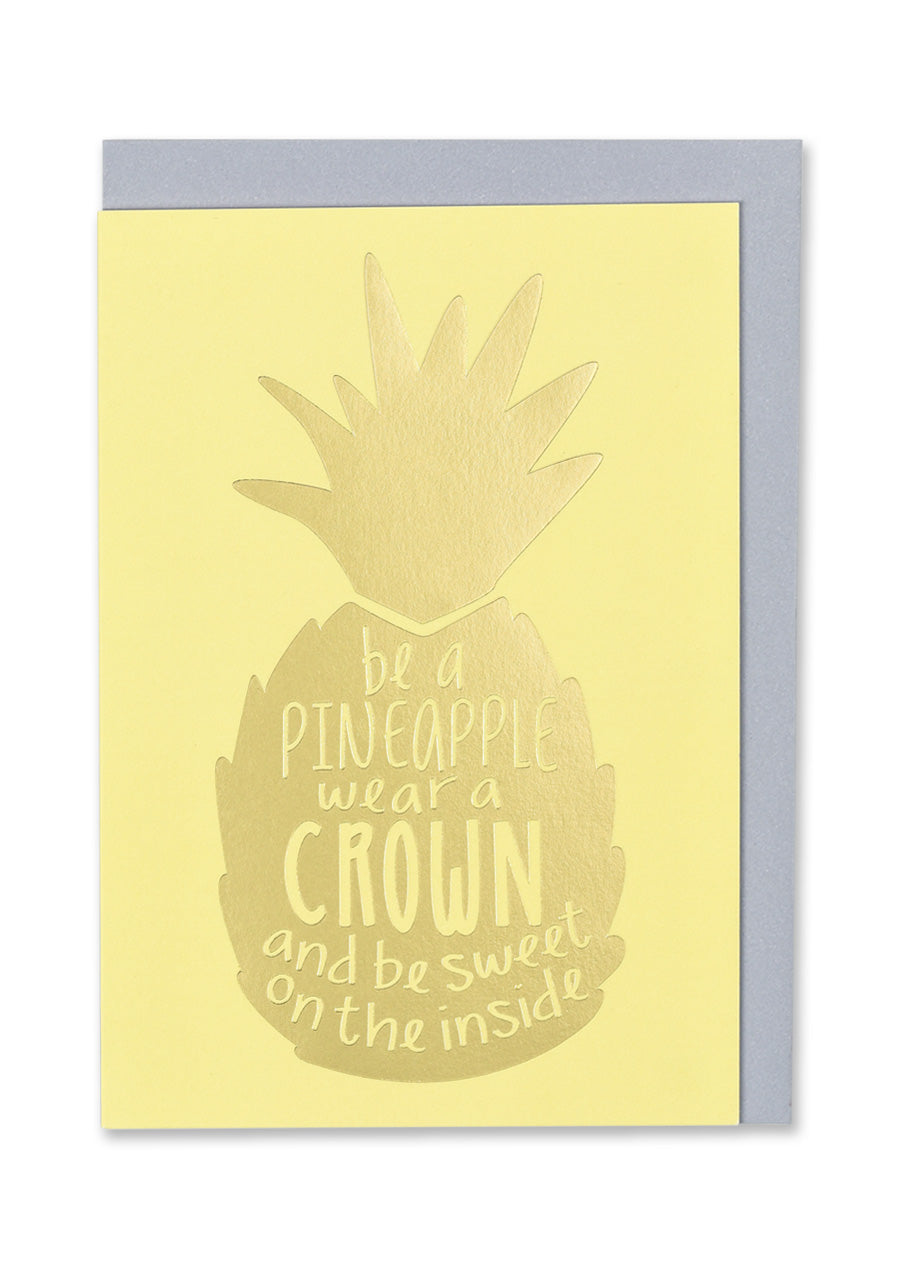 Pineapple Crown Greeting Card - Bluebells of Bath