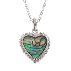 Heart Paua Shell Necklace - Bluebells of Bath