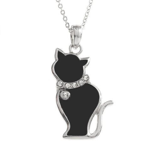 Black Cat Necklace - Bluebells of Bath