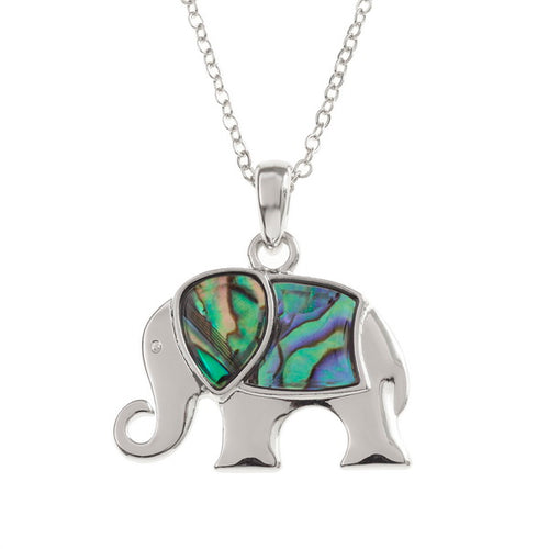 Elephant Paua Shell Necklace - Bluebells of Bath