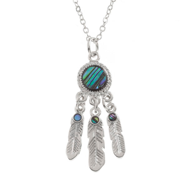 Dreamcatcher Paua Shell Necklace - Bluebells of Bath