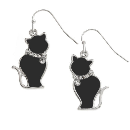 Black Cat Earrings - Bluebells of Bath