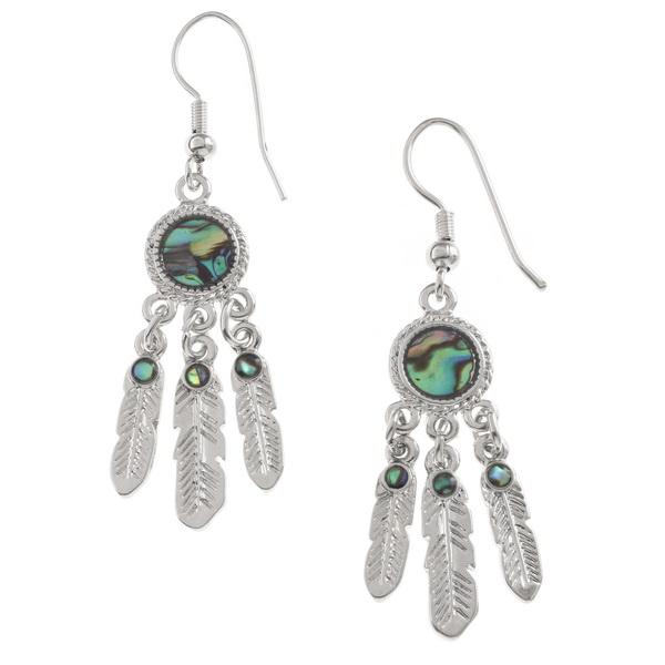 Dreamcatcher Paua Shell Earrings - Bluebells of Bath