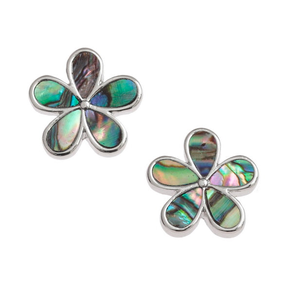 Daisy Paua Shell Stud Earrings - Bluebells of Bath