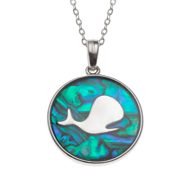 Underwater Whale Paua Shell Necklace - Bluebells of Bath
