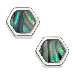 Honeycomb Hexagon Stud Earrings - Bluebells of Bath