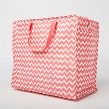 Pink Chevron Storage Bag - Bluebells of Bath