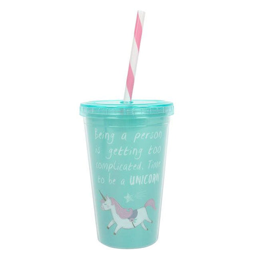Green Unicorn Cup With Straw - Bluebells of Bath