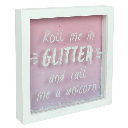 Unicorn Glitter 3D Box Frame - Bluebells of Bath