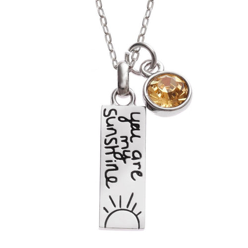 You Are My Sunshine Necklace - Bluebells of Bath
