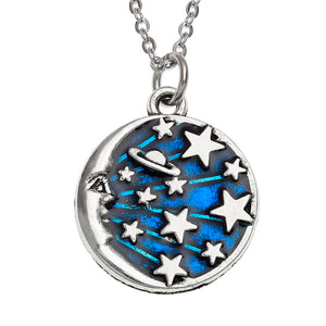 Moon and Stars Necklace - Bluebells of Bath
