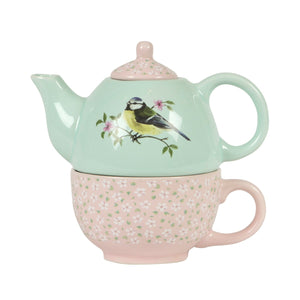 Garden Birds Teapot for One - Bluebells of Bath