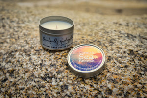 Cornish Sea Breeze Tin Candle - Bluebells of Bath