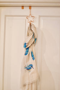 Kingfisher Scarf - Bluebells of Bath