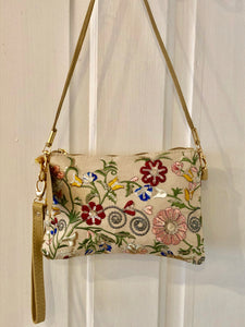 Floral Embroidered Bag - Bluebells of Bath